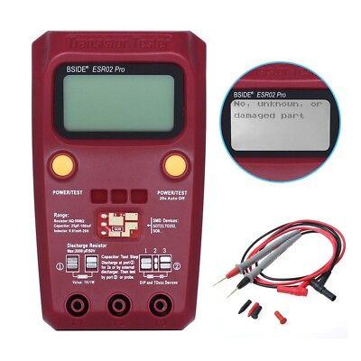 Bside Esr02 Pro Digital Transistor Smd Diode Capa. Indu. Multimeter Esr Meter