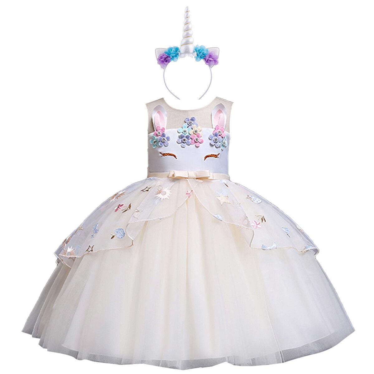1b9fd432a93 Αγορά Παιδικά Ρούχα, παπούτσια | Flower Girl Unicorn Dress for Kid ...