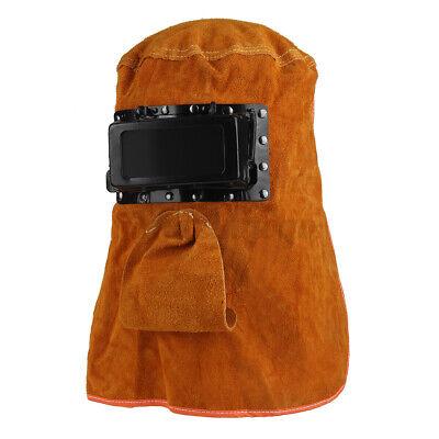 Welding Helmet Mask Face Leather Welder Hood Solar Auto Darkening Filter Lens Us