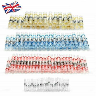 500Pcs Solder Sleeve Seal Heat Shrink Electrical Butt Wire Terminals Connectors