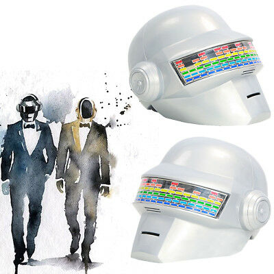 Daft Punk Thomas Bangalter Helmet Voice Control White Full Head Mask Adult Party (Daft Punk Halloween Mask)
