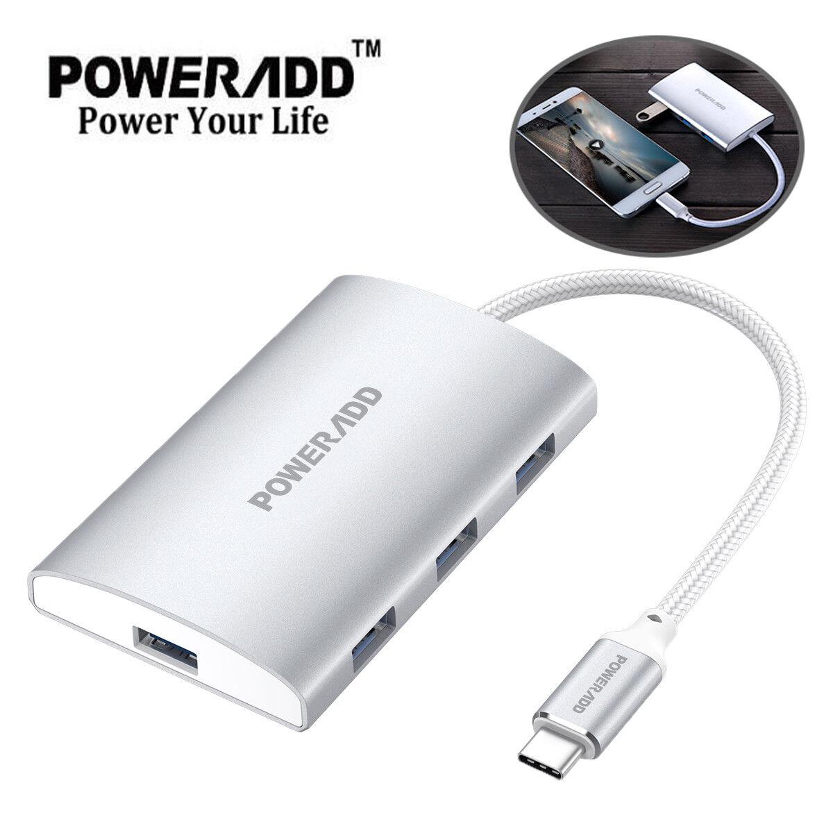 Poweradd Type C Adapter USB C Hub 4in1 USB-C 3.1 to 4K HDMI