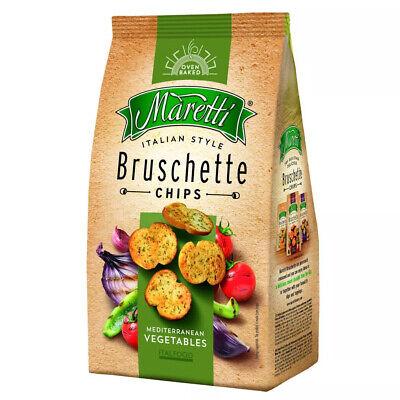 Maretti Bruschette Chips Mediterranean Vegetables feine Brotchips 150g