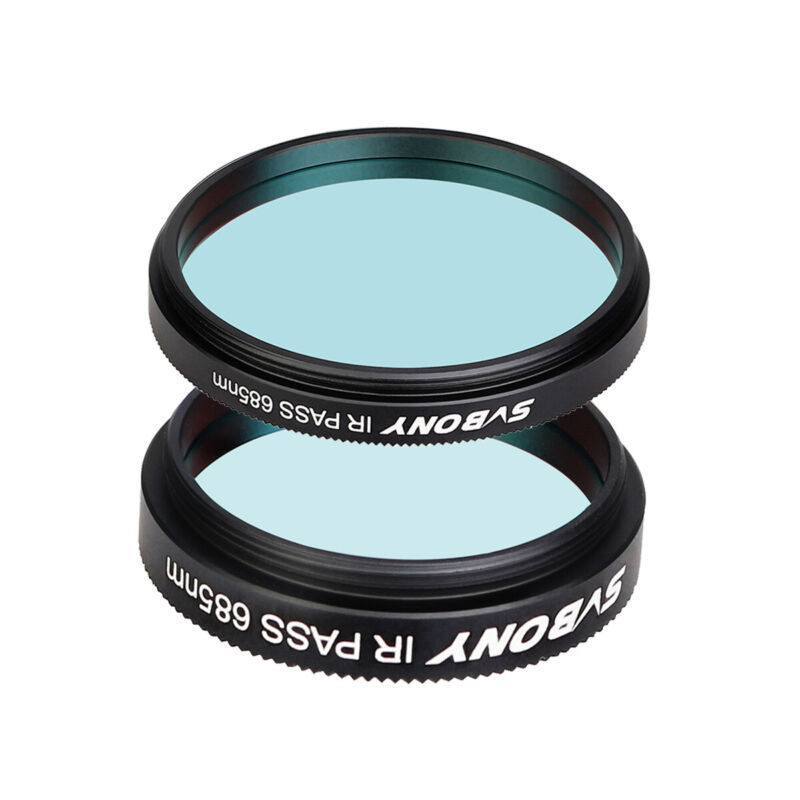 """SVBONY SV183 1.25"""" 2"""" IR Pass 685nm Filter Kit Lens for Astronomy Telescope"""