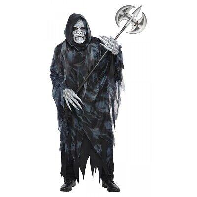 Grim Reaper Halloween Fancy Dress (Death Costume Adult Grim Reaper Scary Halloween Fancy)