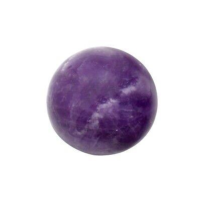 Purple Amethyst Sphere Reiki Stone Chakra Heal Negative Energy Balance (Purple Amethyst Crystal)