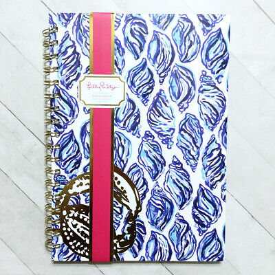 Lilly Pulitzer Large Notebook Spiral Journal Sea Shell Lined Hardcover -