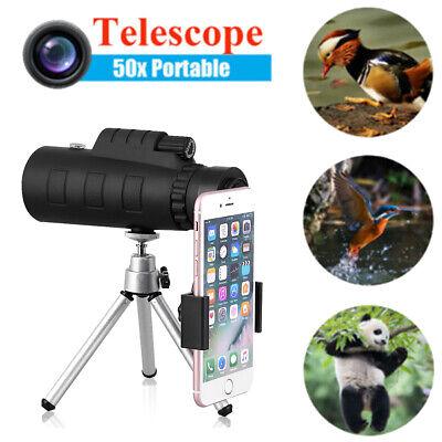 50x60 Zoom Objektiv HD Handy Monokular Ferngläser Teleskop +Clip Stativ +Tasche