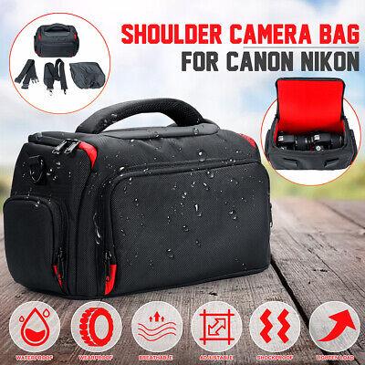 Waterproof Large DSLR Camera Shoulder Bag Waist Bag Handbag Case For   #UK!
