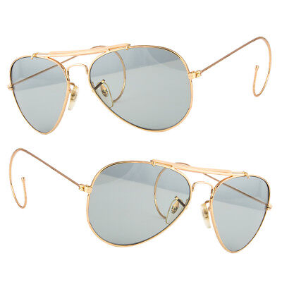 New Aviator Sunglasses Hipster Vintage Style Cable Hook Temples (Sunglasses Hook)