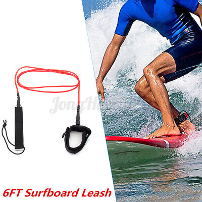 6-10ft Surfboard Leash SUP Stand Up Paddleboard Surf Ankle Tether Leg Rope Cord