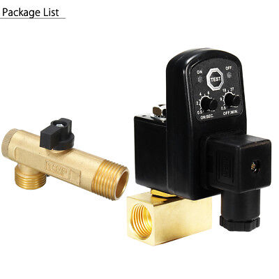 Ac 110v 12 2way Automatic Electronic Timed Air Tank Drain Valve Compressor