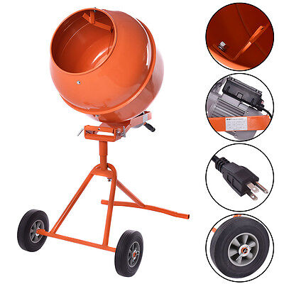 Portable 5cuft Electric Concrete Cement Mixer Barrow Machine 12hp Mixing Mortar