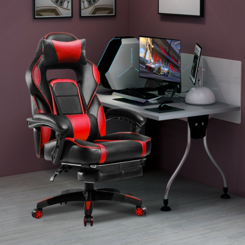 High Back Racing Office Chair PU Leather Gaming Chair Reclin