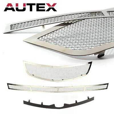 2pcs AUTEX Stainless Steel Mesh Grille 1.8mm Wire Insert for 06-10 Cadillac DTS