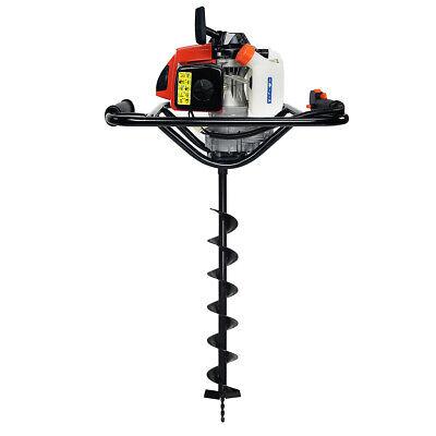 V-type 63cc 2 Stroke Gas Post Hole Digger Auger With 4 Digging Auger Bit Set
