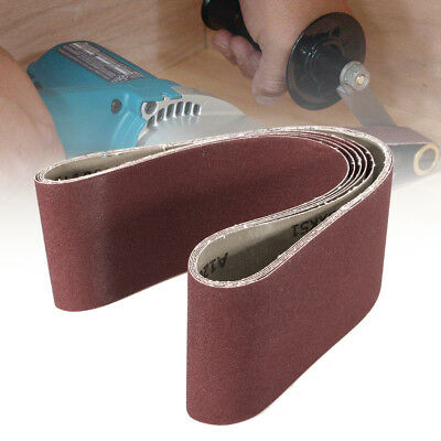 "3pcs 4/"" x 36/"" Aluminum Oxide Sanding Belts 40 Grit XBacking USA 1 Belt CGW 61263"