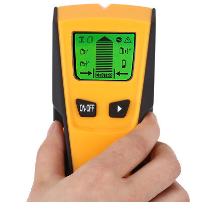 3-in-1 Wall Metal Detector Stud Center Finder AC Live Wire Scanner LCD Backlight