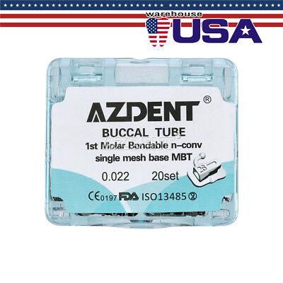 Usps 20sets Dental Orthodontic 1st Molar Mbt 0.022 Buccal Tube Single Bonding
