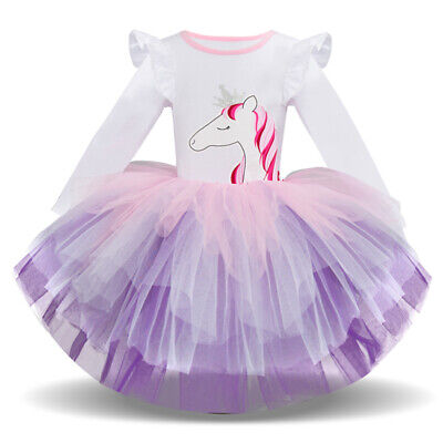 Baby Fancy Dress Costumes (Baby Toddler Girl Unicorn Costume Princess Fancy Dress up Pageant Birthday)
