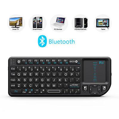 Rii k02+ mini keyboard bluetooth keyboard laser pointer for smart TV PC laptop