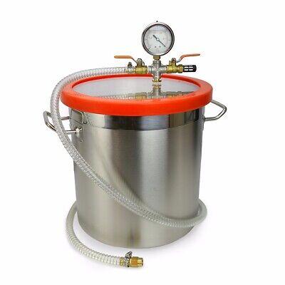 5gallon Vacuum Chamber Stage Pump Degassing Degass Silicone Epoxies Urethane