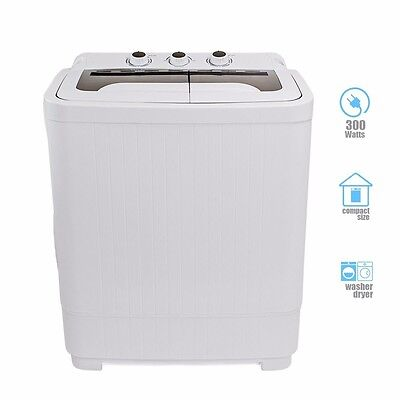غسالة ملابس جديد Portable MINI Washer Machines Compact 8 – 9LB Washing Spin Dryer Laundry RV Dorm