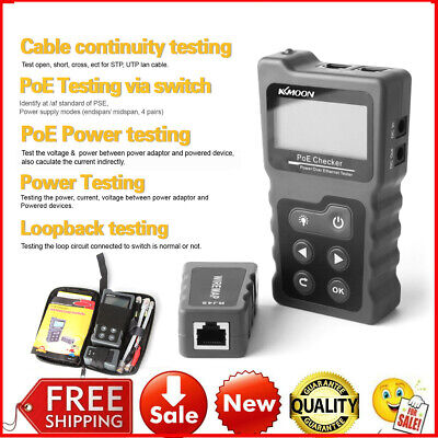Kkmoon Lcd Digital Network Cable Tester Poe Checker Wire Lead Testing Tool I8a6