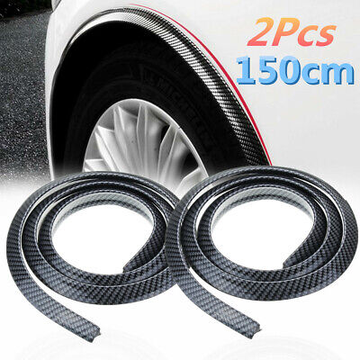 2pcs Carbon Fender Flare Extension Wheel Eyebrow Arch Trim Protector Lip