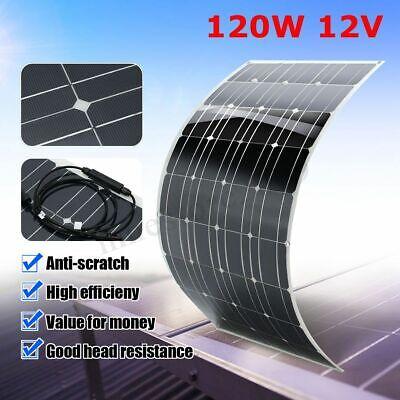 120w 12v A-class Mono Semi Flexible Solar Panel Battery1.5m Cable For Home Car