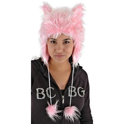 Catarina Cat Hat Halloween Fuzzy Faux Fur Pom Poms Black Or Pink NIB - Halloween Pom Poms