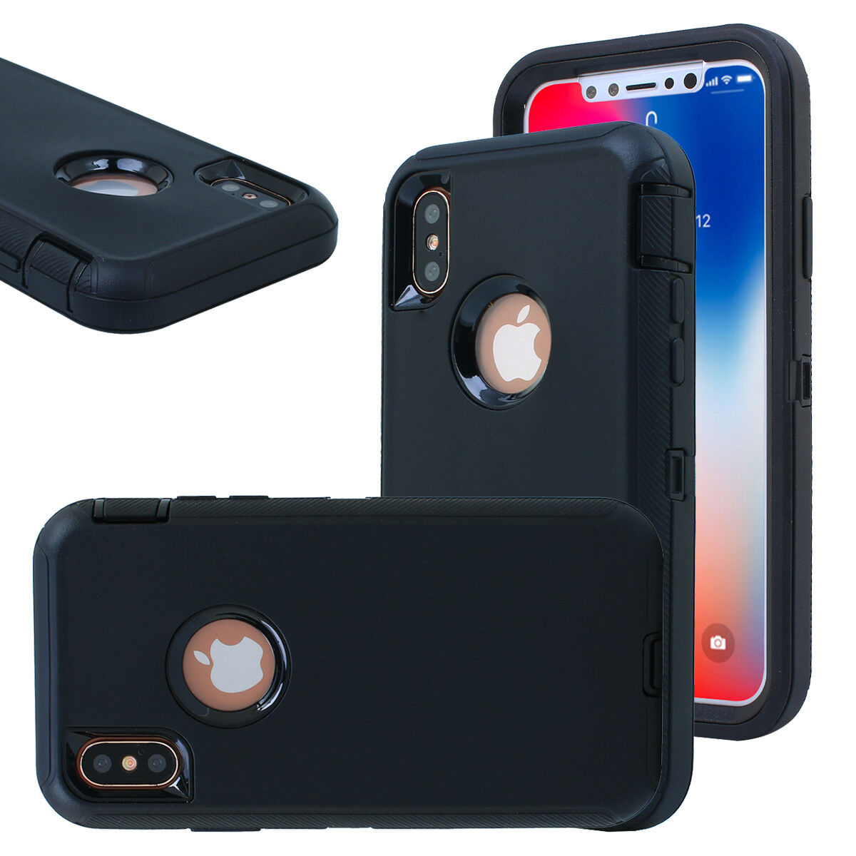 iPhone X 8 7 6s XS Max XR Hybrid Case Shockproof Heavy Duty Rugged Rubber Cover