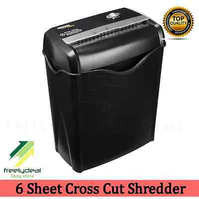 Paper Credit Card Shredder Sheet Cross Cut Office Basket Home Safeguard Document