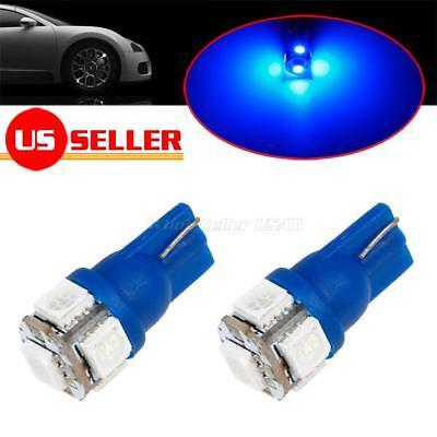 2x 168 194 2825 Ultra Blue 5-5050-SMD LED Bulb For Chevrolet License Plate Light
