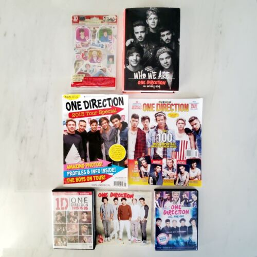 One Direction - Fan Lot Bundle - DVDs - Magazines - Hardcover Book - Stickers