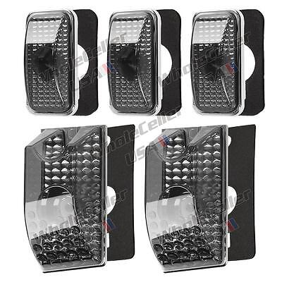 5) Smoke Roof Clearance Top Marker Light Lens w/base housing for 03-09 Hummer H2
