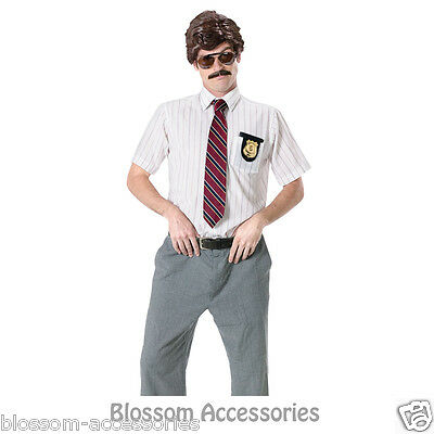 C953FW Mens Funny 70s Detective Cop Sunglasses Wig Costume Kit - Funny Cop Costume