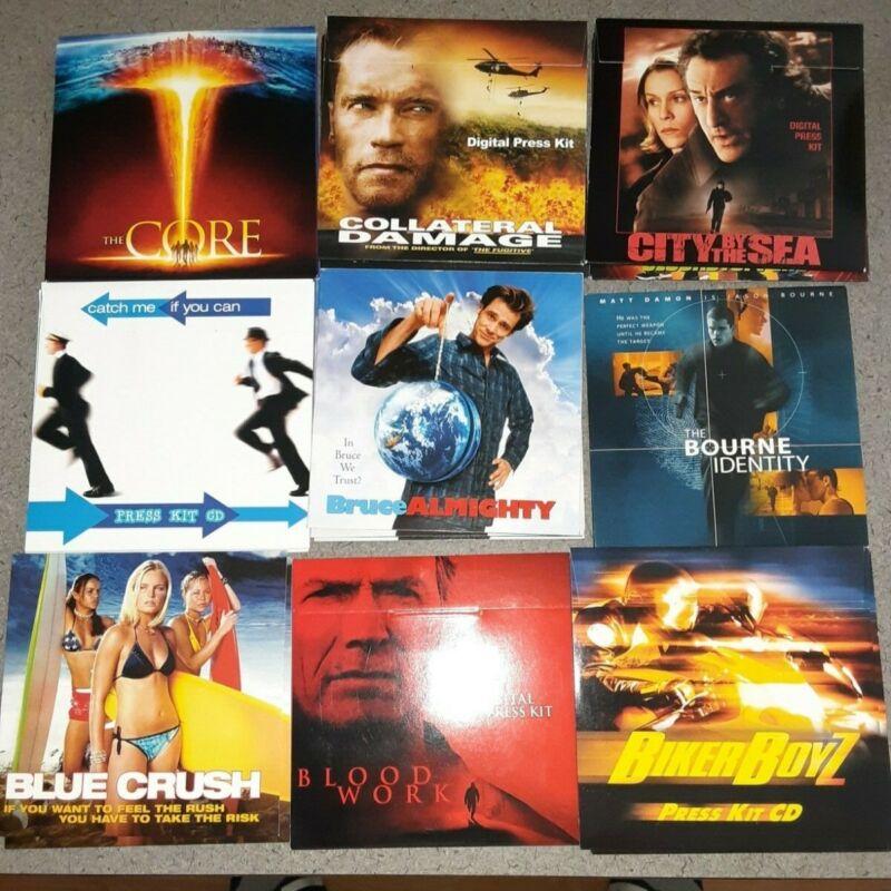 Huge lot 100+ CD Movie Press Kit List Lot CD-ROM Photos Picture Promo