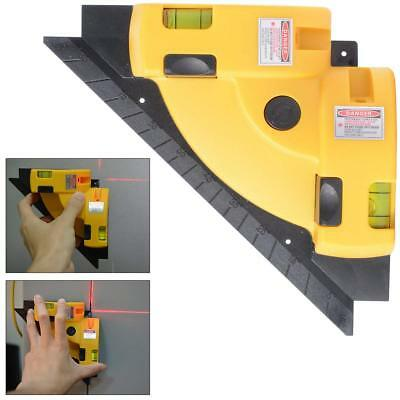 Horizontal Tool Laser Level Right Angle 90 Degree Measure Cross Line Infrared
