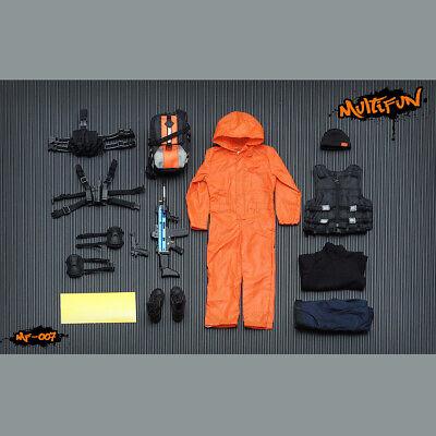 1//6 TIDE-ZONE A009-2 Fluorescence Suit Red Color Coat/&Trousers Clothes Set