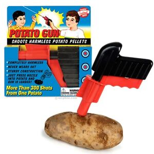 Classic Retro Vintage PLASTIC SPUD GUN Potatoe Toy Gun Fancy Dress Costume Prop
