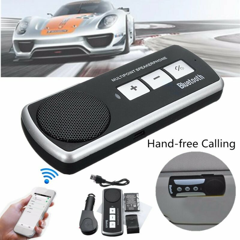 Wireless bluetooth Car Kit Speaker Handsfree Speakerphone for iPhone Android