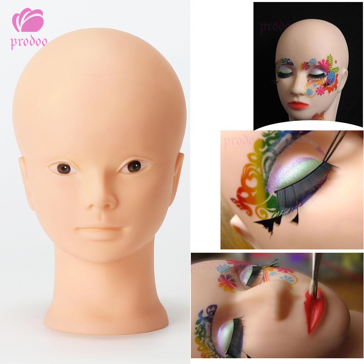 Details about Female Practice Mannequin Manikin Head Eyelashes Lip Makeup Massage Training