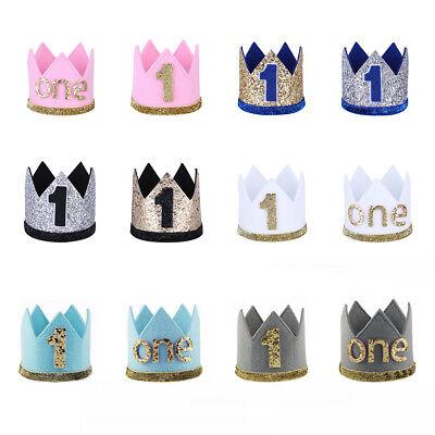 Baby Girl Boy Birthday Crown 1st First Birthday Party Tiara Headband Accessories](Birthday Girl Crown)