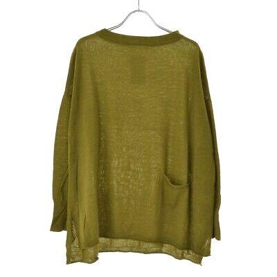 Blue Willow Japan Olive Green Wool Blend Pocket Knit Jumper Top