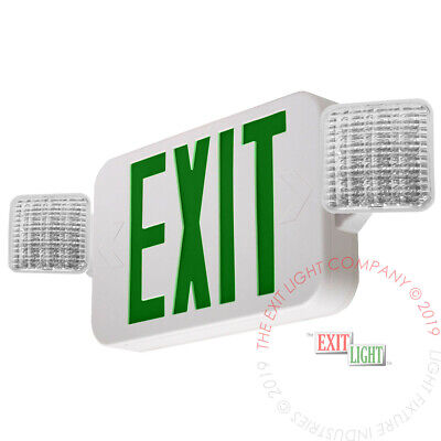 Green All Led Exit Sign Emergency Light - Standard Combo Ul924 Fire Combog2