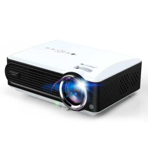 3D Portable Projector 1080P 7000Lumen Multimedia Player VGA