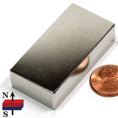 Cms Magnetics Super Strong N52 Neodymium Block Magnet 2x1x12 Best Seller