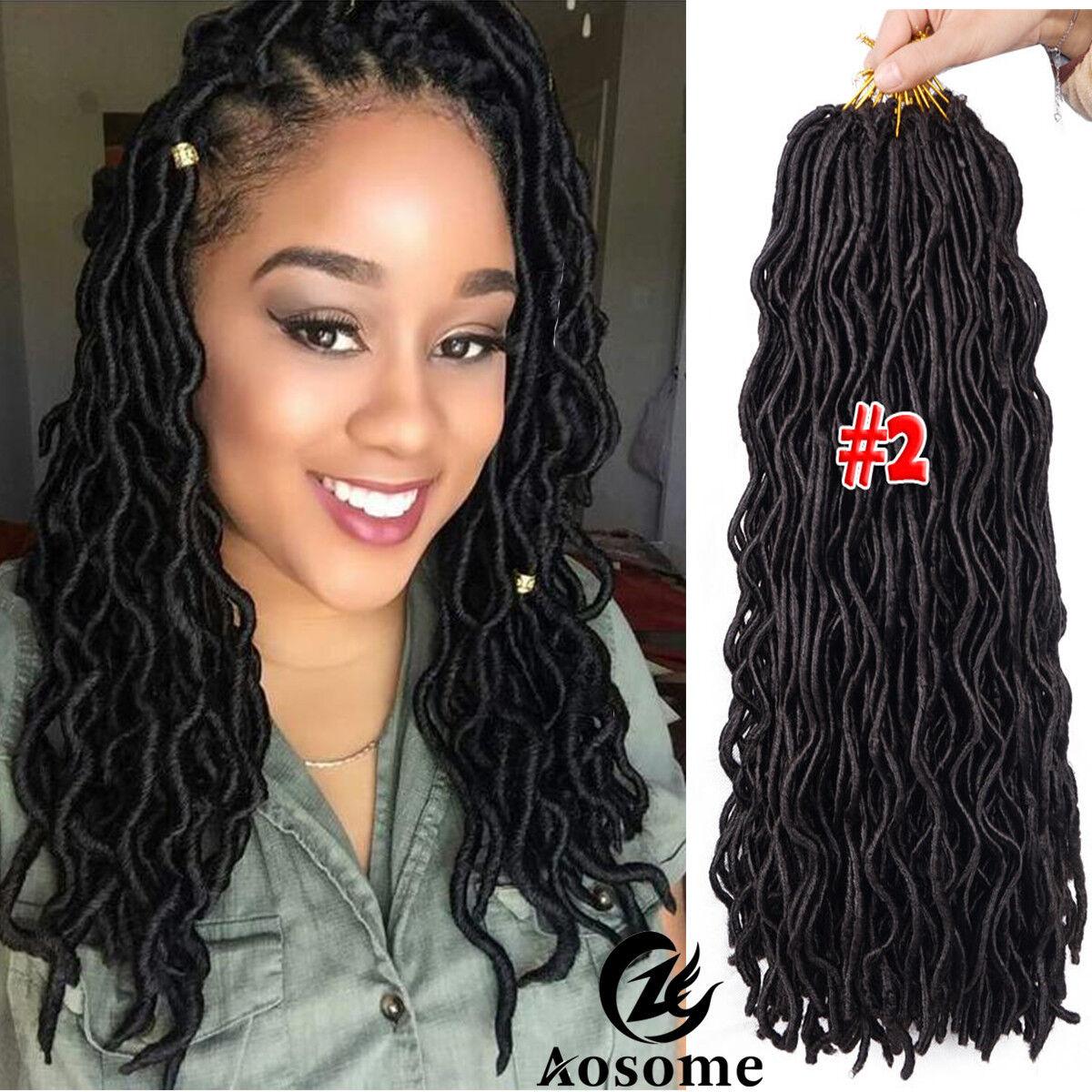 3 Pack 20 Quot Goddess Faux Locs Hair Extensions Crochet Dread