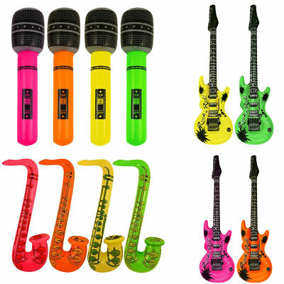 Inflatable Instruments Bulk (Inflatable Music Instruments Guitar/Microphone/SAXOPHONE COLOURFUL BLOW UP)